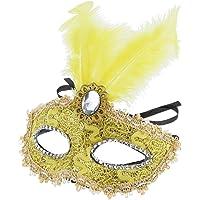 Baoblaze Máscara Mascarada Rhinestone Veneciana Bonita Fiesta Graduación Decorado Plumas Atractivo