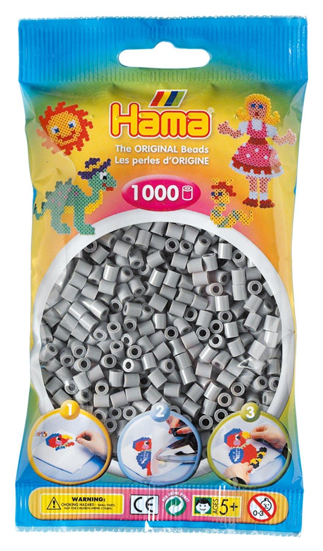 01 Hama Midi Bead White 1000 Beads in Bag