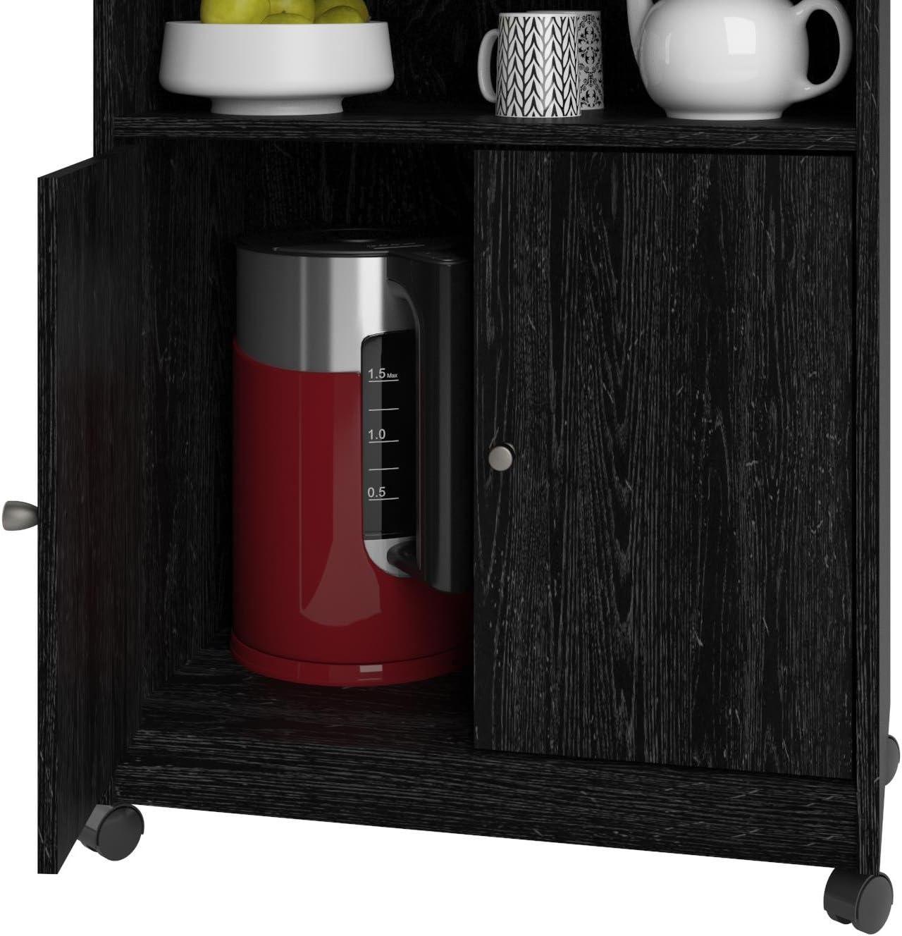 Ameriwood Home Landry Microwave Cart Multiple Colors 2