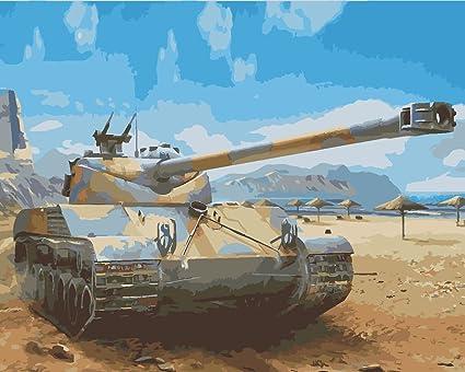 Amazon com: 16x20'' DIY World War II Tank Battle Paint by