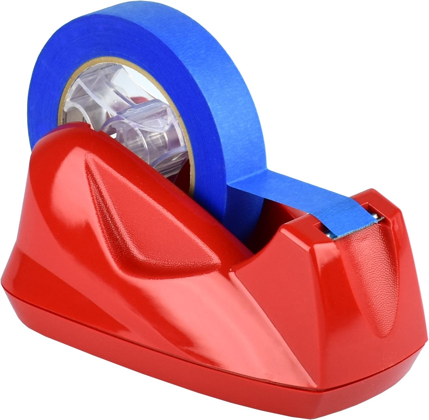 Acrimet Premium Desktop Tape Dispenser Jumbo Non-Skid Base (Heavy Duty) (Red Color)