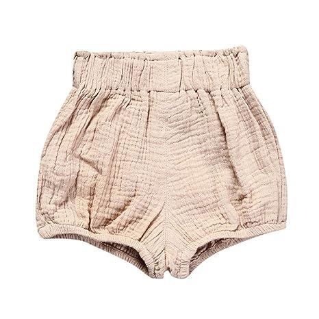 feiXIANG Ropa de bebé Pantalones Cortos de bebé recién Nacido Bebé niña Linda Triángulo de algodón