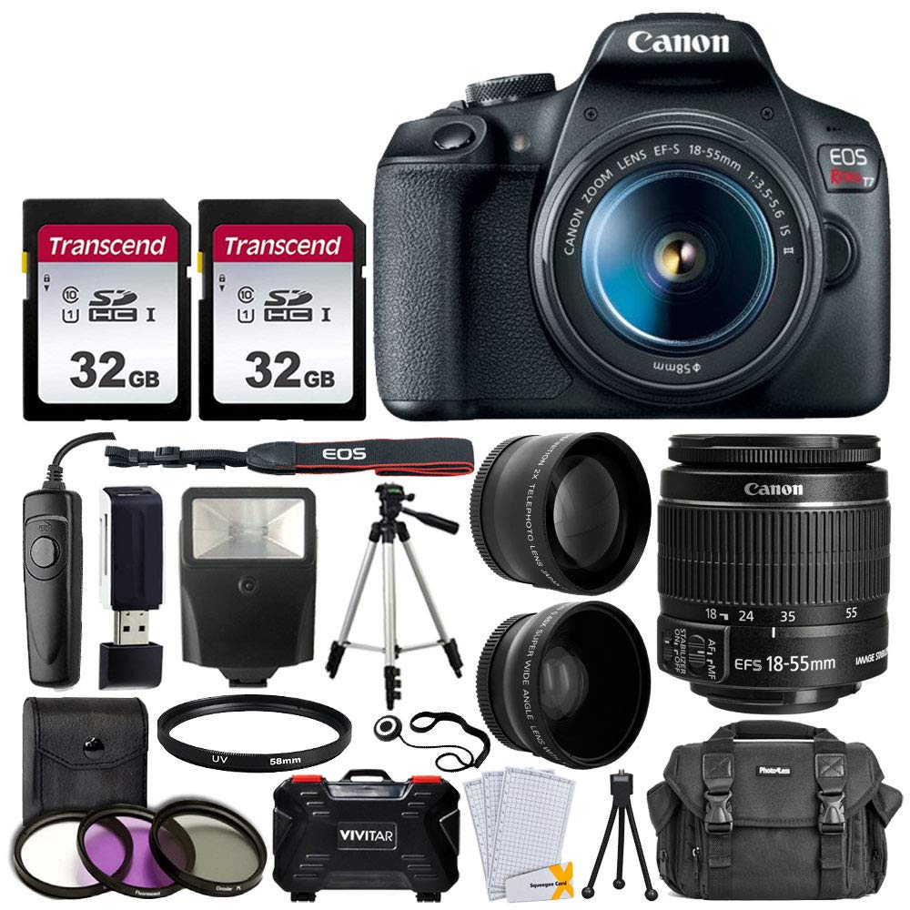 canon-eos-rebel-t7-digital-slr-camera-with-18-55mm-ef-s-f35-56-is-ii-lens-58mm-wide-angle-lens-2x-telephoto-lens-flash-64gb-sd-memory-card-uv-filter-kit-tripod-full-accessory