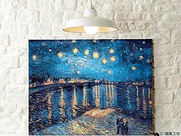Sternenhimmel Rhone M Box Dekorative Malerei Leinwand Bild Frame