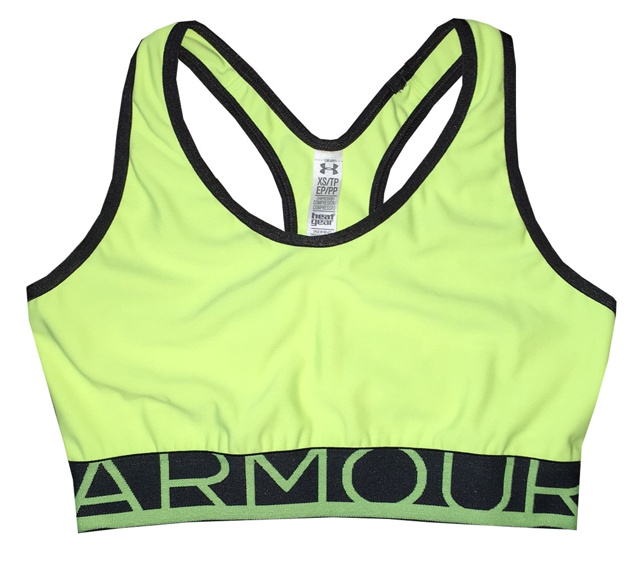 Under Armour Women Mid Sport Bra (XS, High Vis yellow) by Under Armour