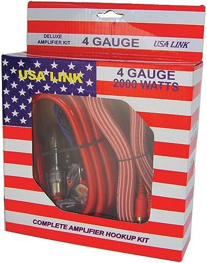 RCA 6 Pack Qpower 4 Gauge Ga 2000W Car Amplifier Amp Complete Wiring Kit