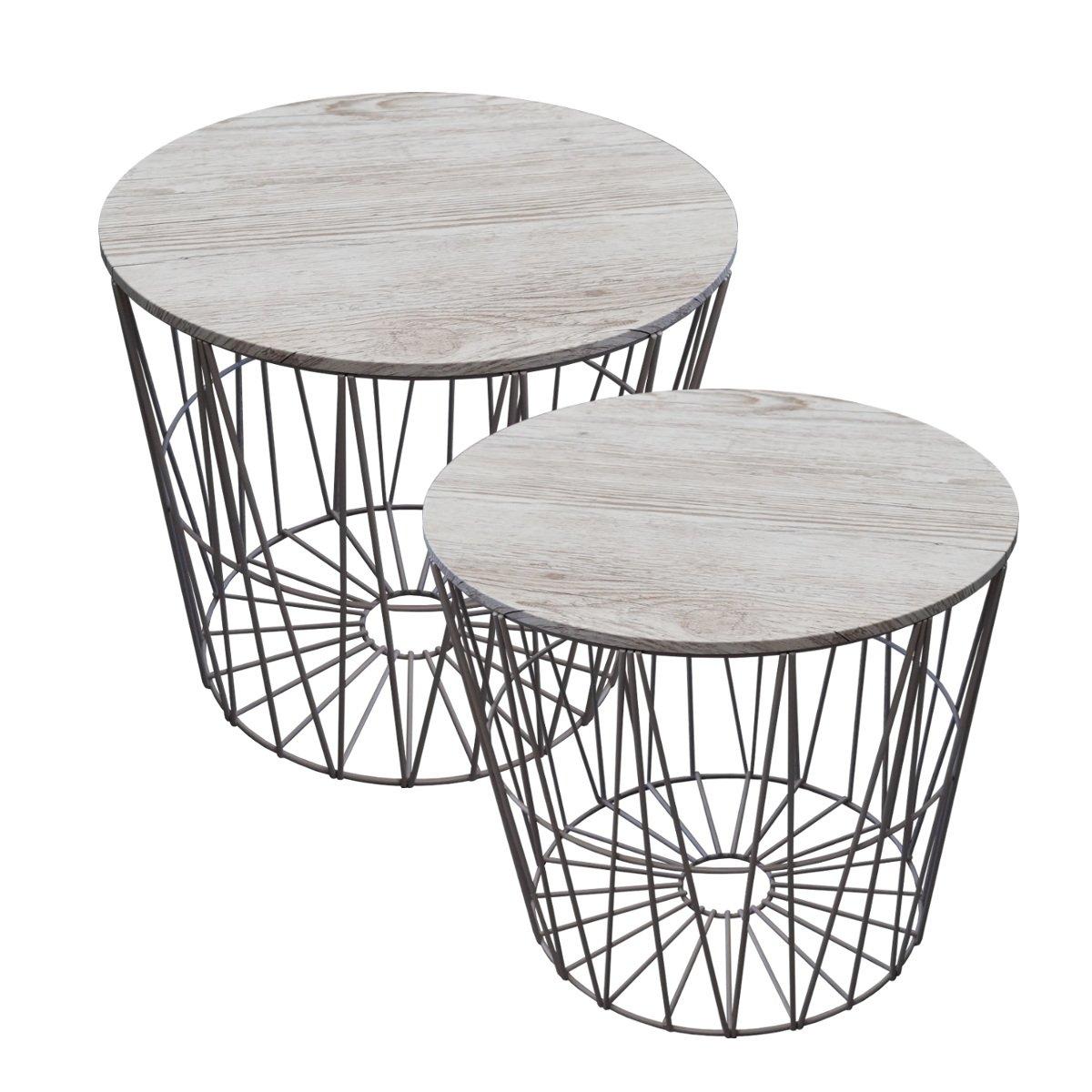 Design Drahtkorb mit Deckel antik weiß/grau (groß): Amazon.de ...
