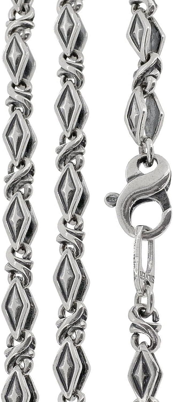 [ジゴロウ] GIGOR シルバー 925 フリスト デザインチェーン 40~55cm (40cm) メンズ シンプル ネックレス アクセサリー