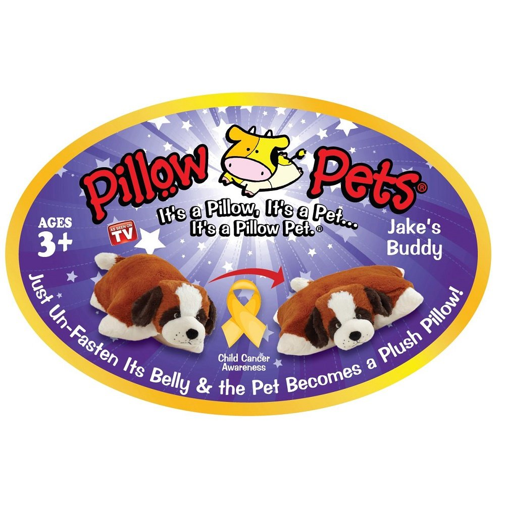 "Pillow Pets Signature, St. Bernard, 18"" Stuffed Animal Plush Toy"