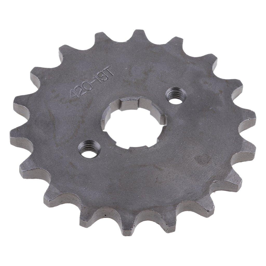 MagiDeal 18 Dents 20mm Pignon de Cha/îne Avant 420 de Pit Pro V/élo//Dirt Bike//Trail Bike