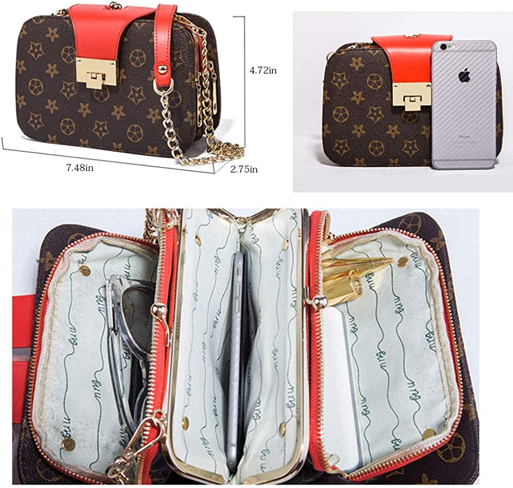 CHOUDAO Womens Quilted Crossbody Bag Girl Side Wallet and Shoulder Bag Designer Clutch Chain