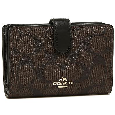 online retailer 63637 70362 [コーチ] COACH 財布 (二つ折り財布) F54023 ブラウン×ブラック IMAA8 シグネチャー 財布 レディース [アウトレット品]  [並行輸入品]