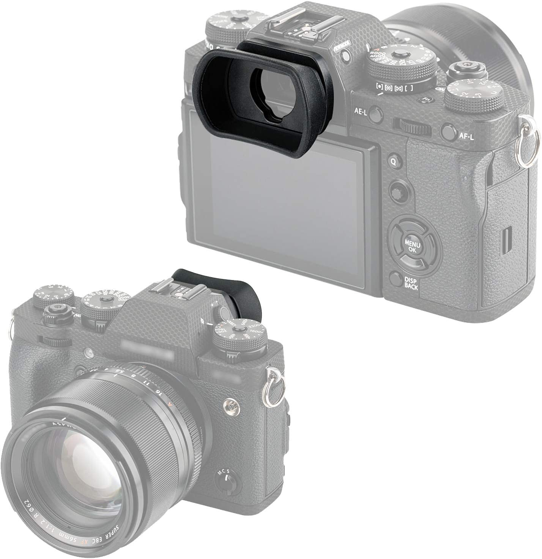 Eye Cup Eye Piece viewfinder compatible with Fujifilm GFX100 GFX50S XT1 XT2 XT3 XH1 Soft Silicone JJC KIWIFOTOS Ergonomic Long Camera Eyecup for Fuji GFX100 GFX-50S X-T1 X-T2 X-T3 X-H1 49.9X33.1x21