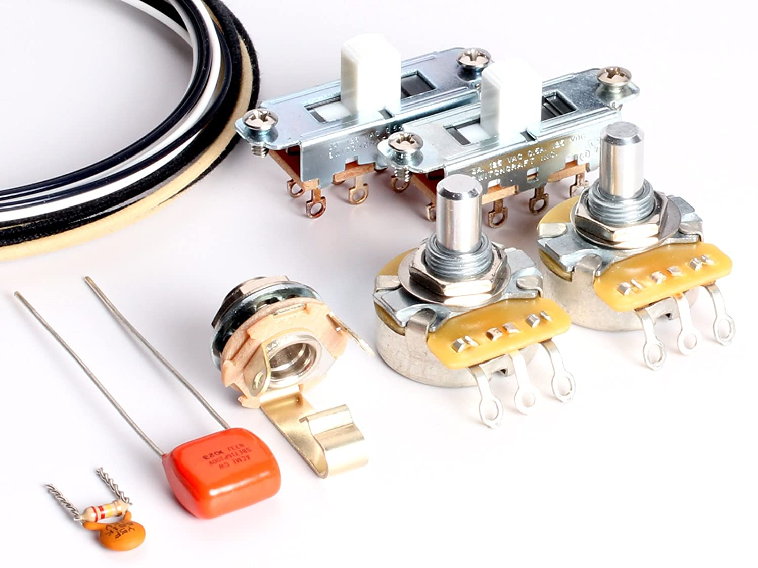 Fantastic Toneshaper Guitar Wiring Kit For Fender Mustang White Switches Wiring Digital Resources Nekoutcompassionincorg
