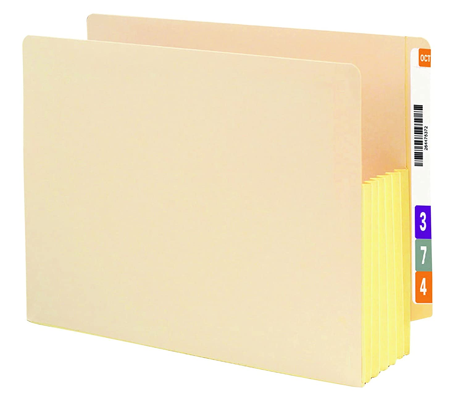 Smead End Tab File Pocket, Letter, Straight, 5.75-Inch Expansion, Manila, 10 per Box (75174)