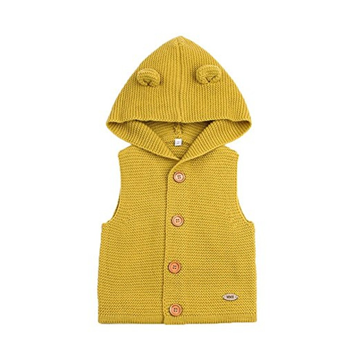 JELEUON Kids Toddler Little Girls Sleeveless Hooded Casual Button Up Jacket Knit Cardigan Sweater