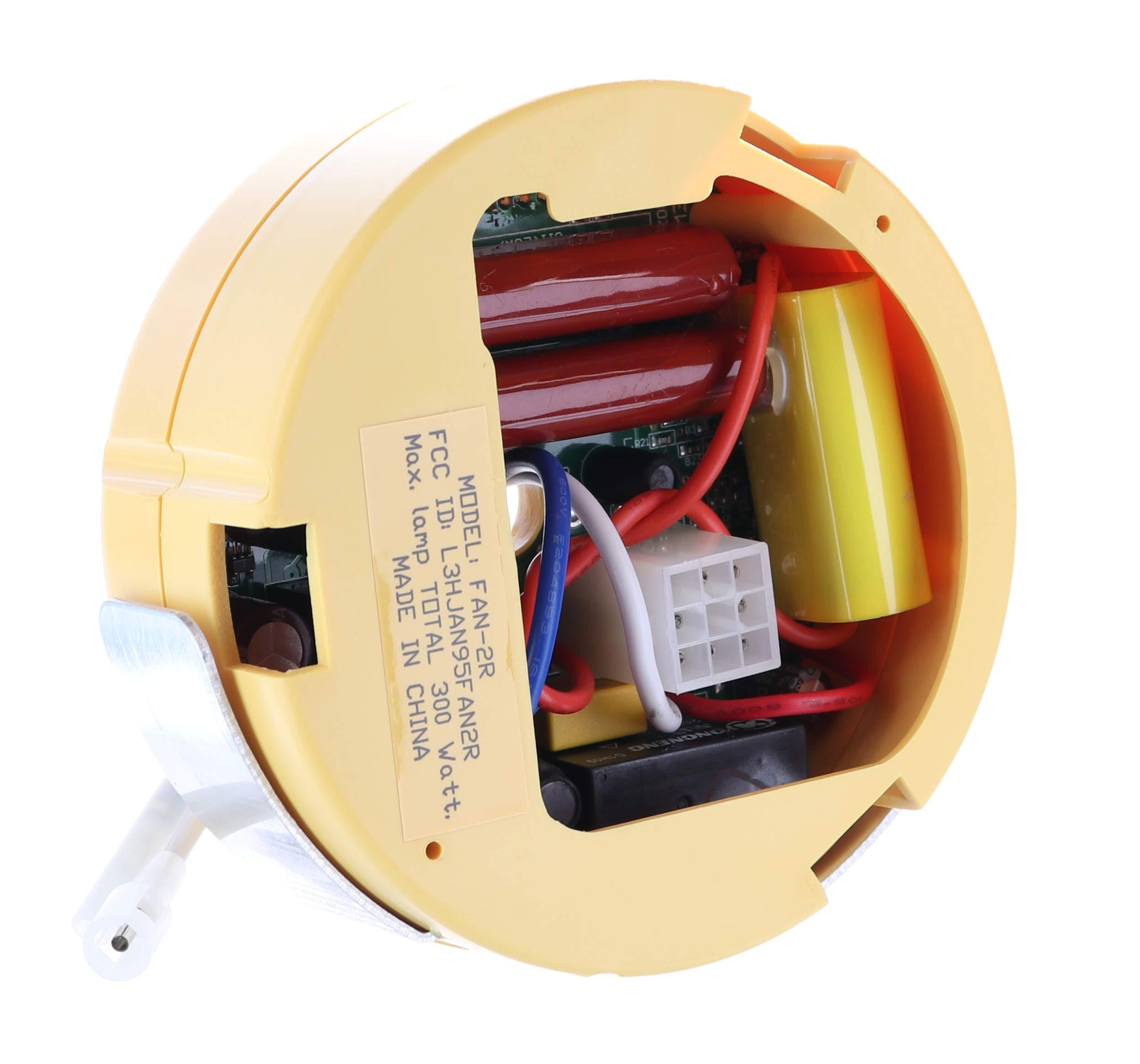 Ceiling Fan Remote Control of Replacement for Hampton Bay Hunter FAN-HD UC7078T CHQ7078T FAN-HD5 Standard-RR7079T L3H2010 CFL LED FANHD
