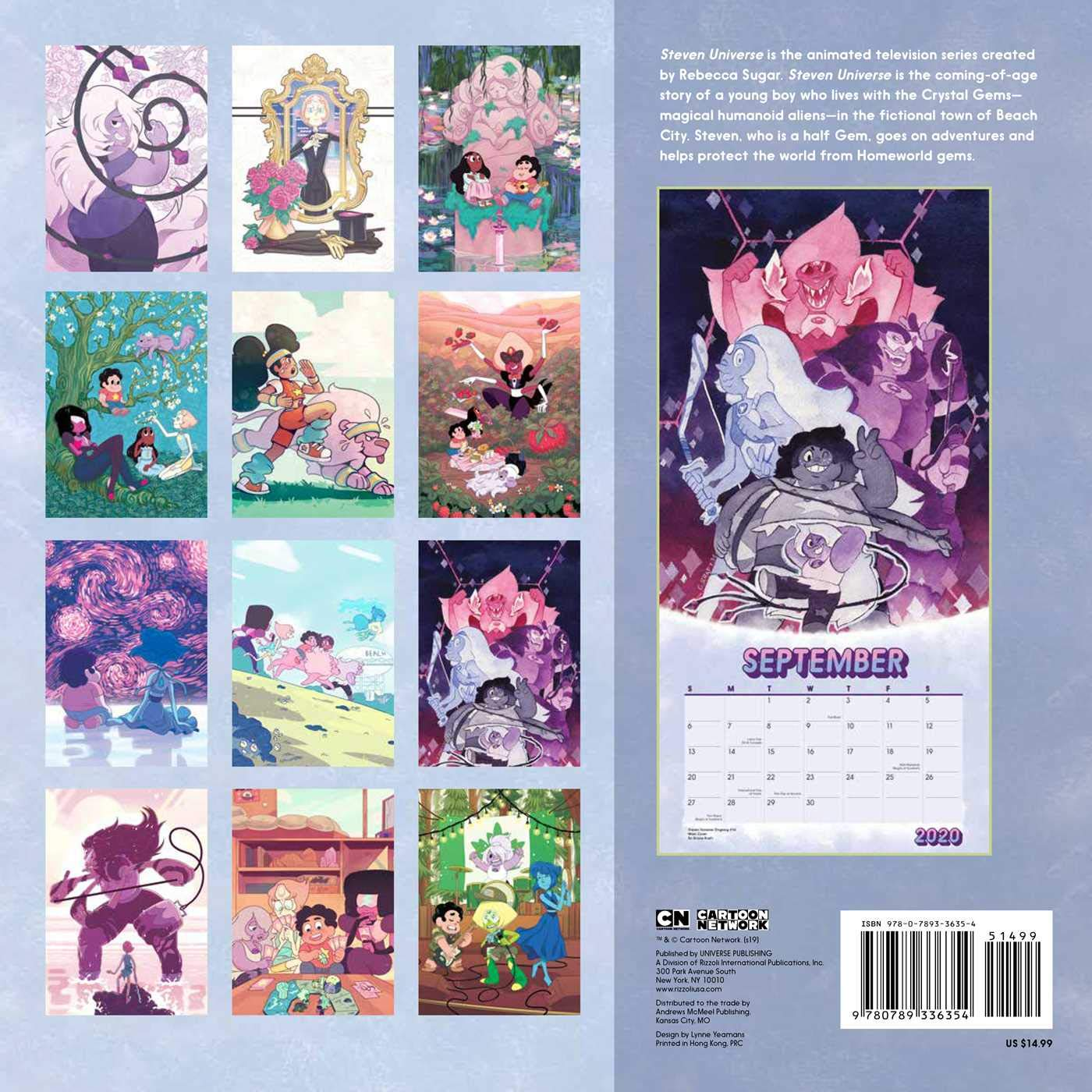Calendario For Mens 2020.Steven Universe 2020 Wall Calendar Cartoon Network