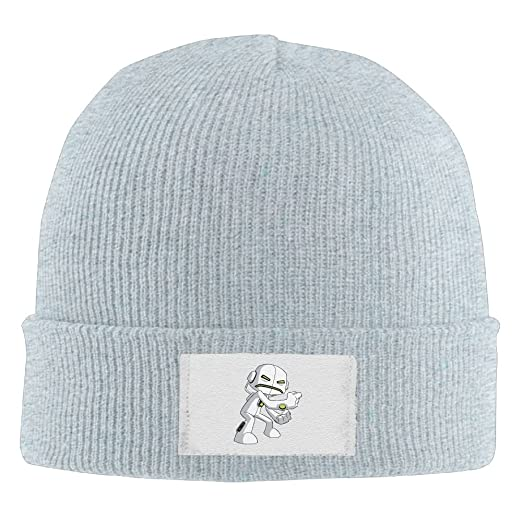 4e201a3748d5a Amazon.com  NO4LRM Men Women Fighting Aliens Headphone Warm Stretchy Knit  Wool Beanie Hat Solid Daily Skull Cap Outdoor Winter  Clothing