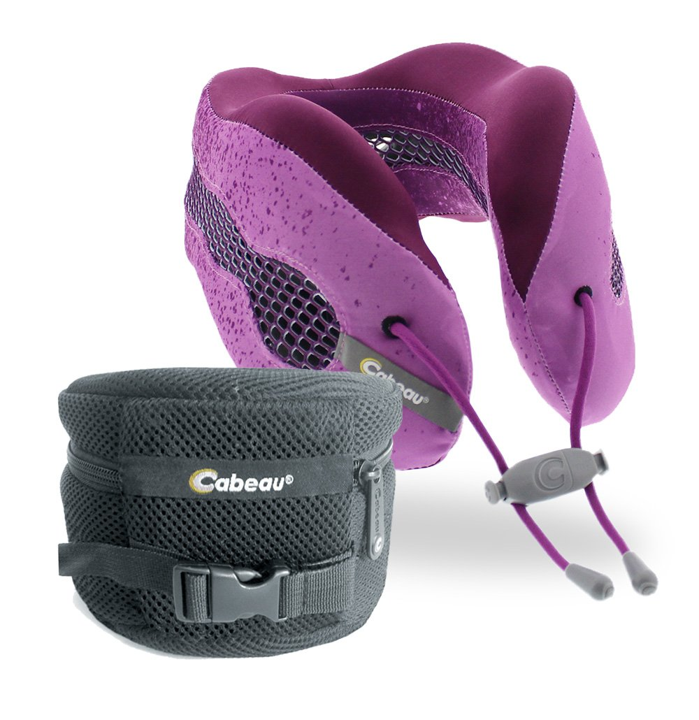 Cabeau Evolution Cool Travel Neck Pillow, Cosmos, Purple 127924