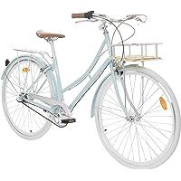Fabric City Bicicleta de Paseo- Bicicleta de Mujer con Cesta, Cambio Interno Shimano…