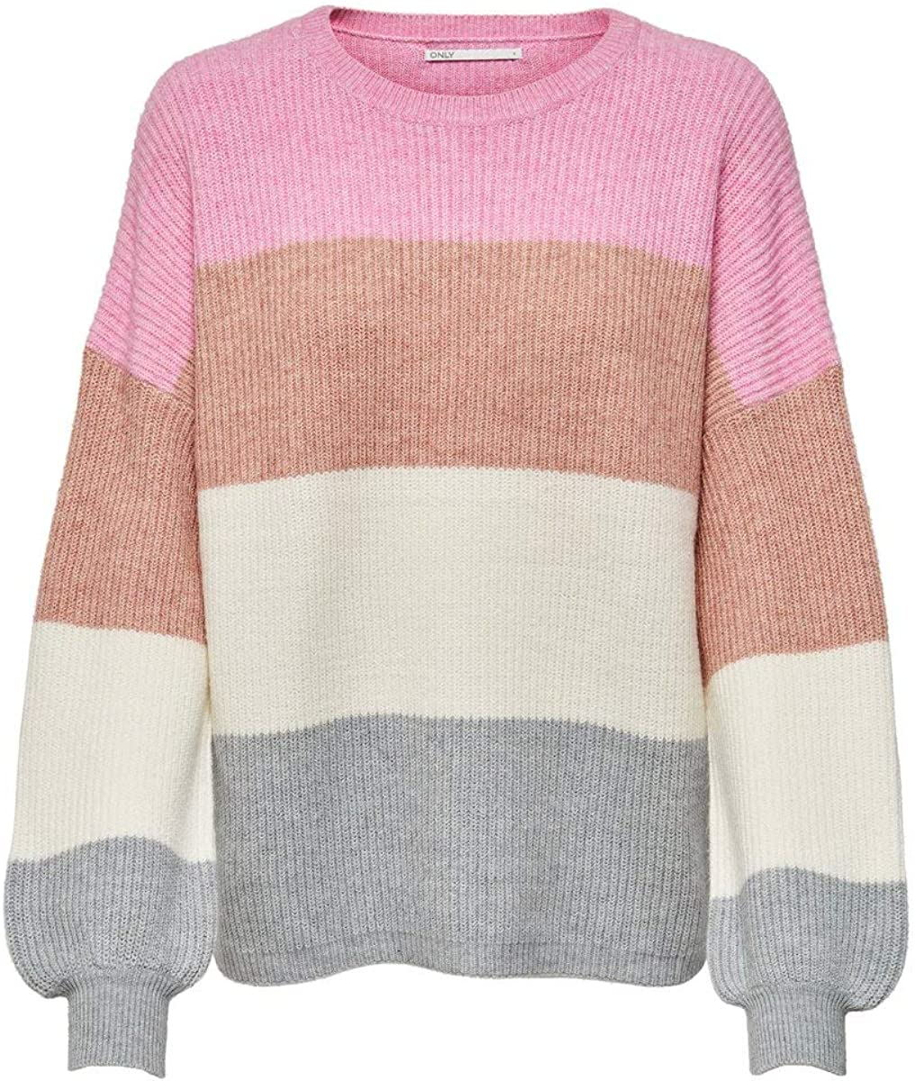 Only Onlsandy L//S Stripe Pullover CC Knt Donna