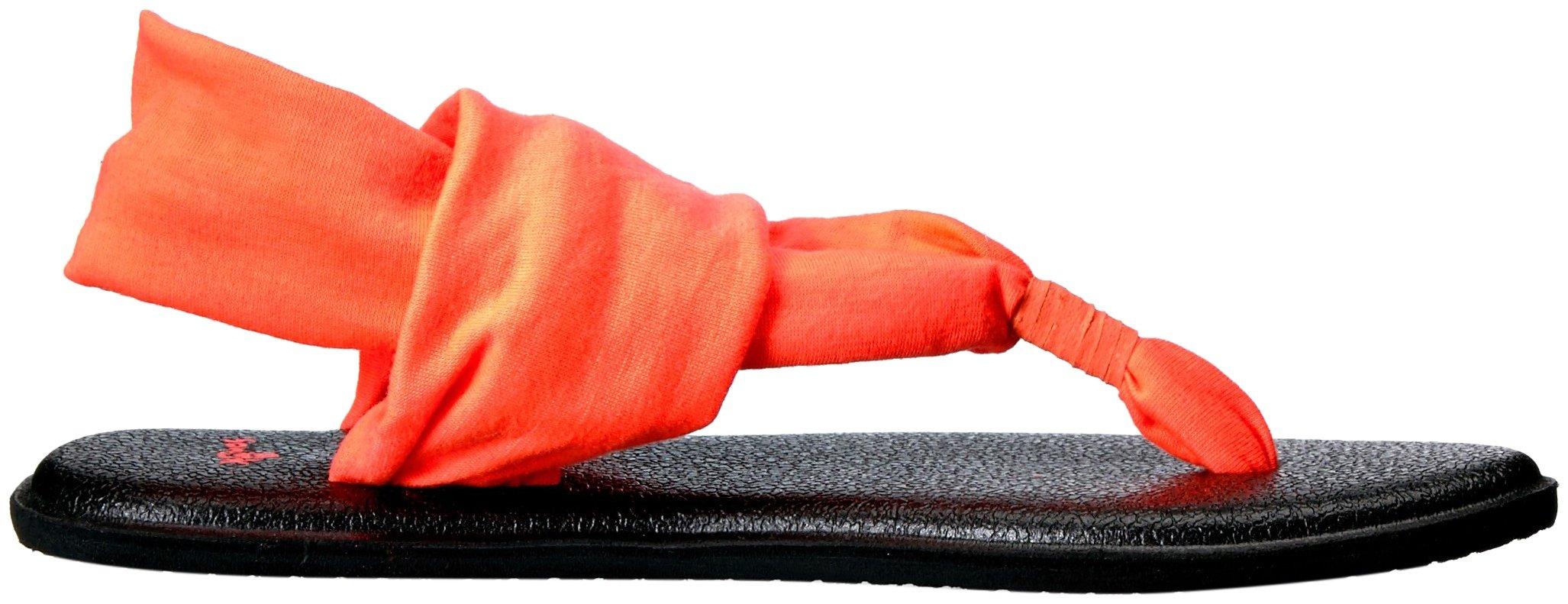 Sanuk Kids Yoga Sling Burst Sandal (Toddler/Little Kid/Big Kid), Tropical Papaya, 13/1 M US Little Kid by Sanuk (Image #7)