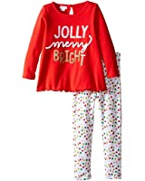 Mud Pie Baby Girl's Jolly Tunic & Legging Set