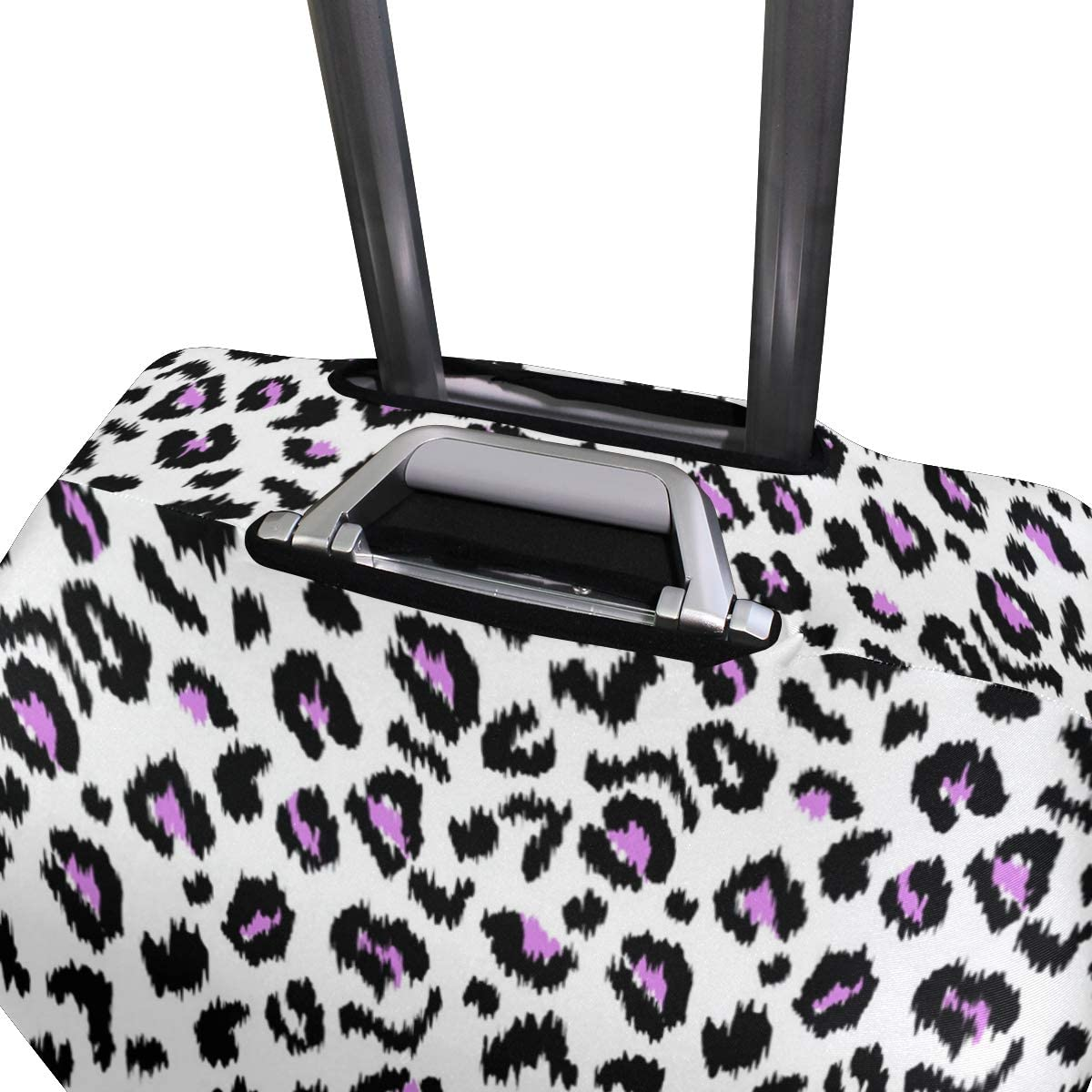 Bright And Dazzling Leopard Print Traveler Lightweight Rotating Luggage Protector Case Can Carry With You Can Expand Travel Bag Trolley Rolling Luggage Protector Case