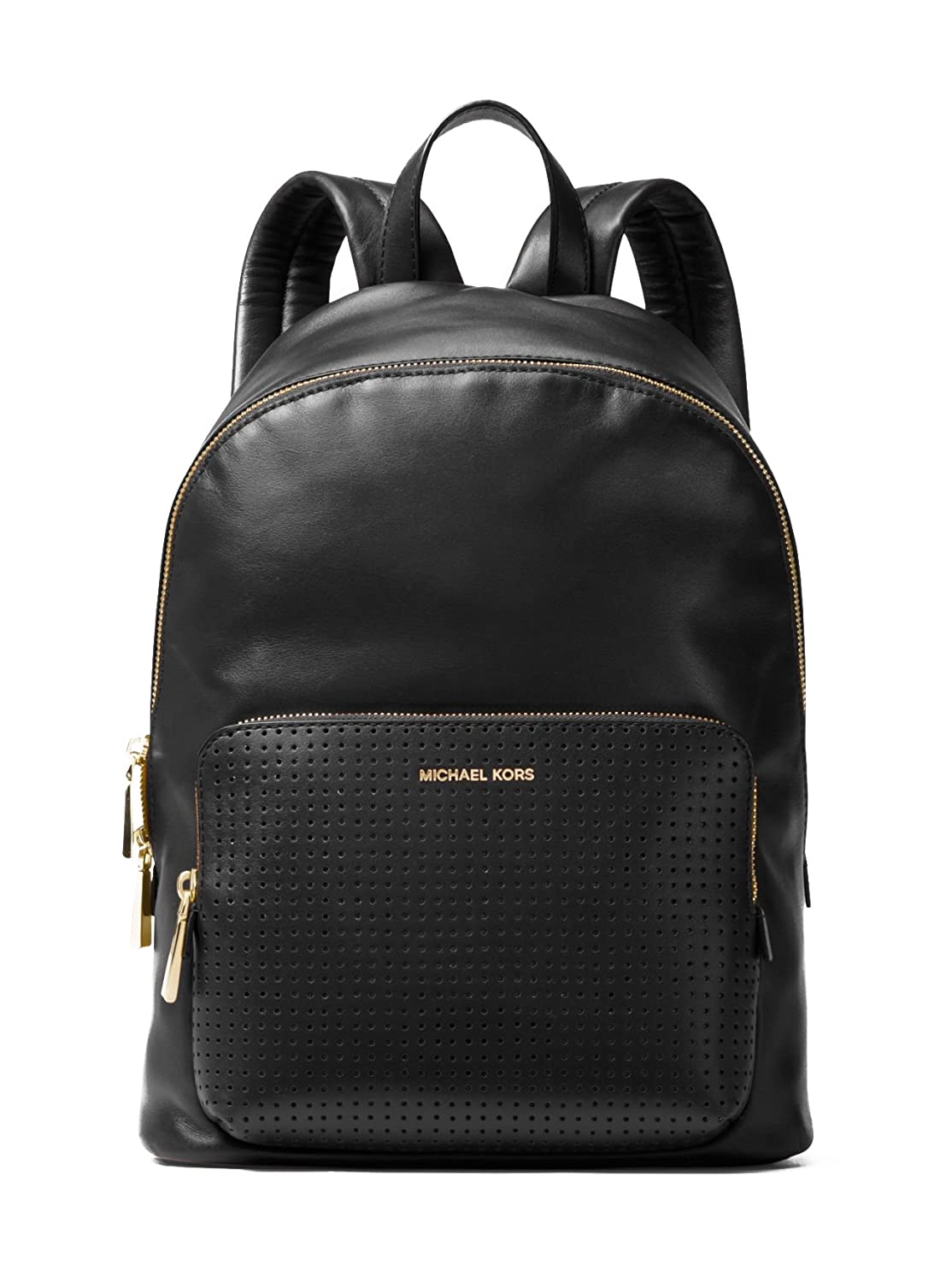 Amazon.com: MICHAEL MICHAEL KORS Wythe Large Perforated Leather Backpack  (Black): Shoes