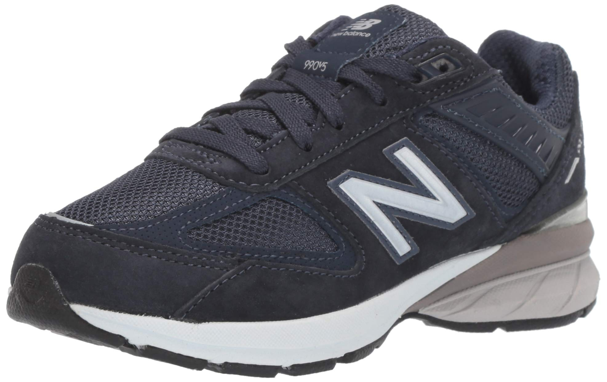 New Balance Boys' 990v5 Running Shoe, Navy, 2 W US Little Kid by New Balance