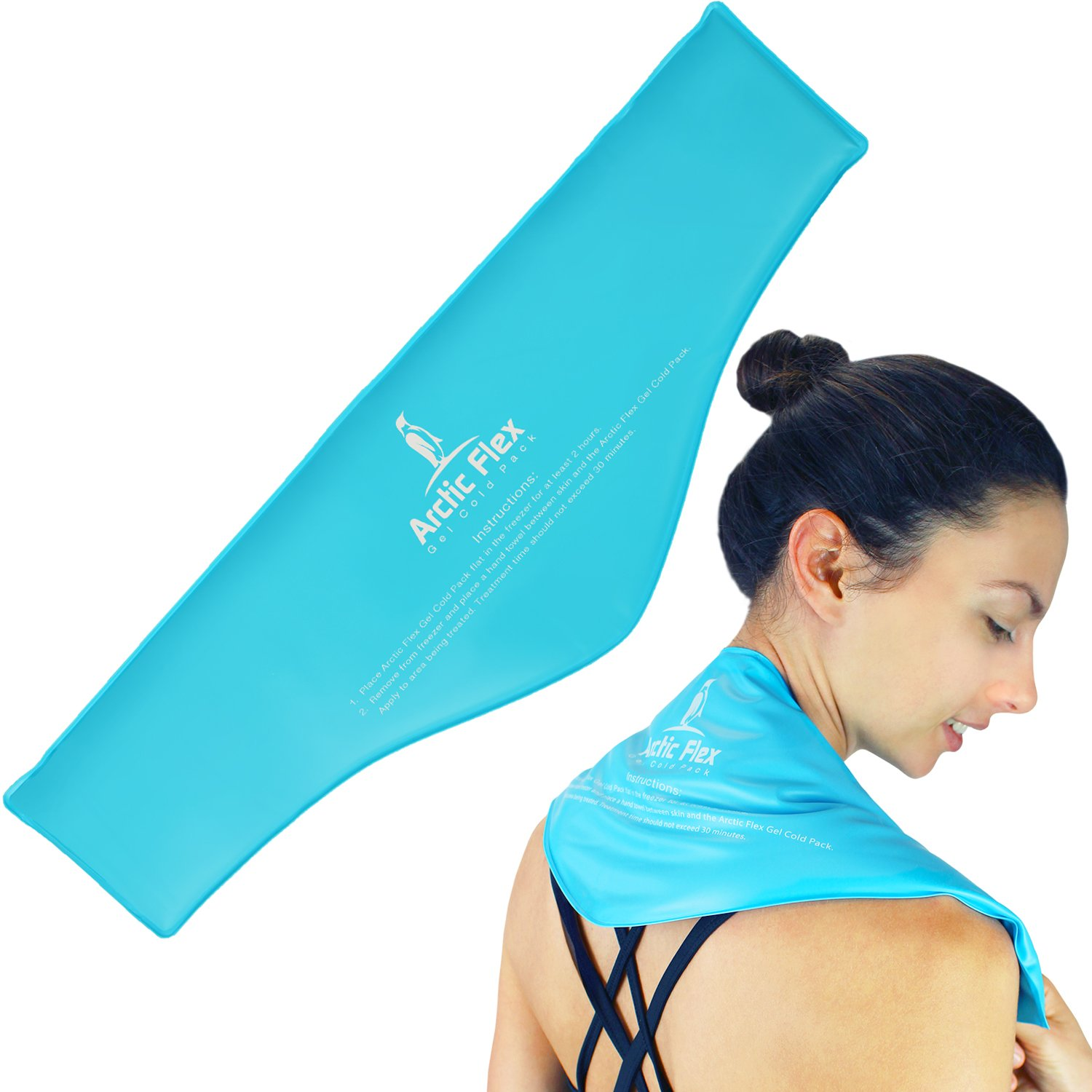 Neck Ice Pack by Arctic Flex - Cold Compress Therapy Wrap - Cool, Reusable Medical Freezer Gel Pad for Swelling, Injuries, Headache, Cooler - Flexible, Soft & Instant by Arctic Flex