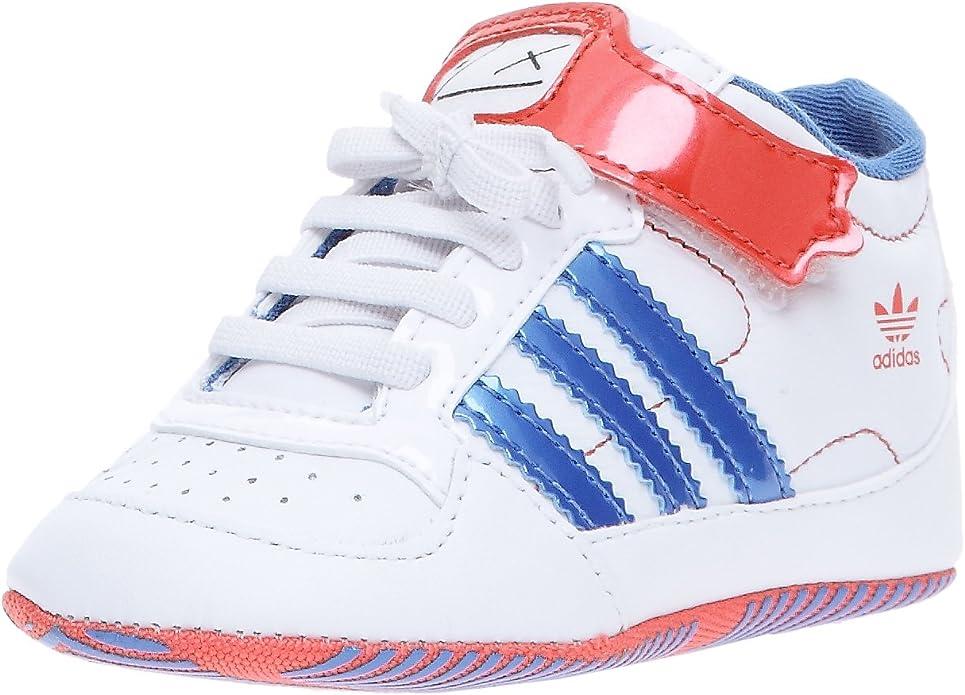 Adidas Originals-Foro Adikids Crib Zapatillas para bebé, Blanco (Blanc/Bleu/Rouge), 19: Amazon.es: Zapatos y complementos