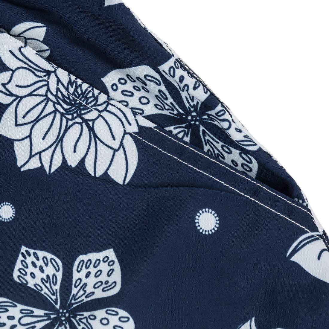 ELETOP Mens Swim Trunks Quick Dry Board Shorts Beach Holiday Bathing Suit Print Swimwear L1