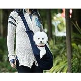 HITOP Dog Cat Pet Sling Carrier Bag, Outdoor Slings Carriers Reversible Shoulder Bag