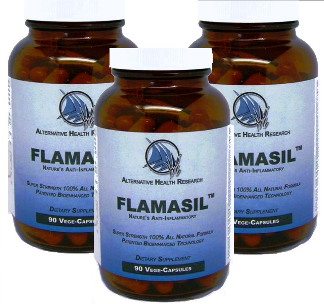3 pack Flamasil- Whole Body Therapy & Uric Acid Cleanser 270 Vege Capsules by Alternative Health Research LLC