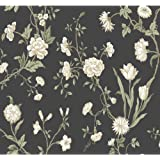 York Wallcoverings AB2150 Black and White Chevron Wallpaper, Charcoal/White/Beige/Tan/Taupe/Green