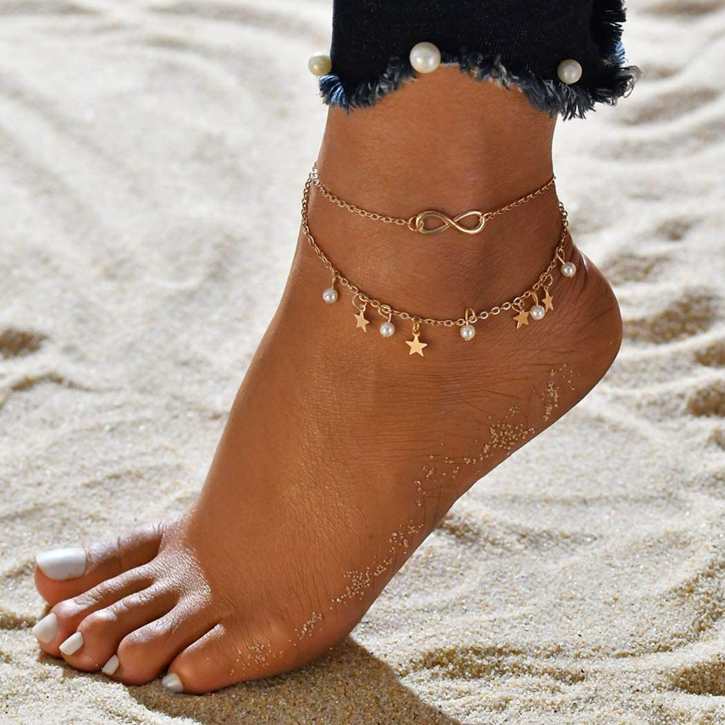 boho anklet beach jewellery Brown pearl anklet boho jewellery beaded anklet beach anklet pearl ankle bracelet brown and gold anklet