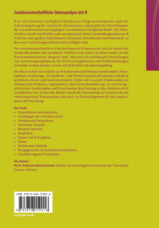 Sozialwissenschaftliche Datenanalyse mit R: Eine Einführung: Amazon ...