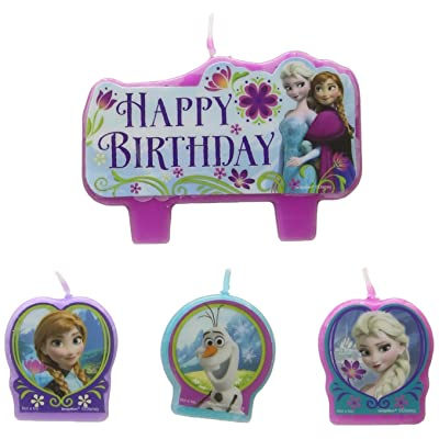 Frozen Birthday Candle Set (Set Of 4): Kitchen & Dining