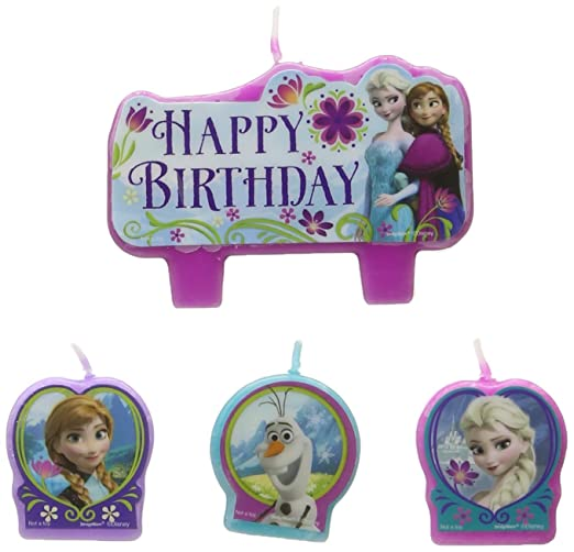 Frozen vela de cumpleaños Set (Set de 4): Amazon.es: Hogar