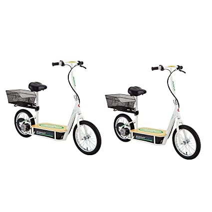 Razor Electric Scooter With Seat >> Razor Ecosmart Metro Electric Economical Green Scooter With Seat Rack 2 Pack