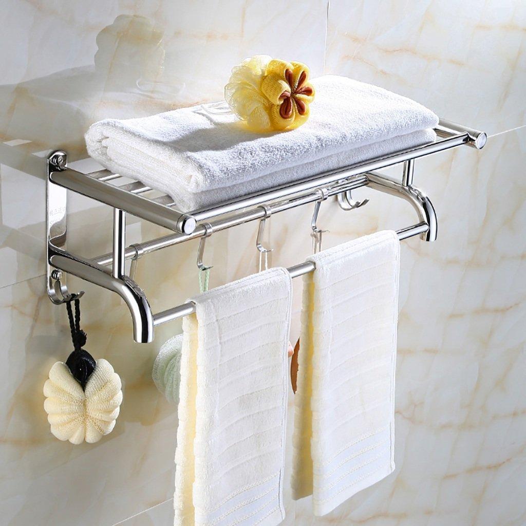 バスルームの棚 ステンレス製のタオルラックバスルームのハードウェアアクセサリーバスルームの棚タオルラック バスルームタオル収納ラック (サイズ さいず : 80センチメートル) B07DBWYTP2 80センチメートル 80センチメートル