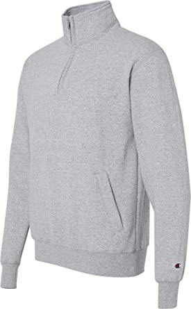 b1fdd00d9f8 Adult 9 oz. Double Dry Eco  Quarter-Zip Pullover-Light Steel at ...