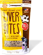 Chewmasters Beef Liver Bites Freeze Dried Dog Treats Bag, 17.6 oz.