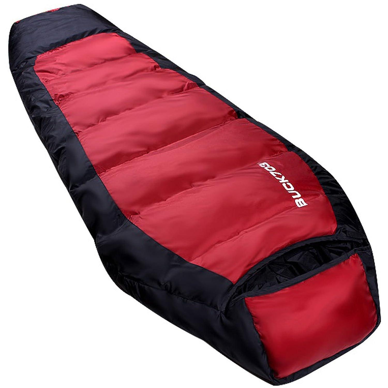 Goose Down Sleepingバッグマザーズバックパッキングキャンプハイキングコンパクト冬