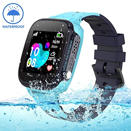 Kids smartwatch with GPS Tracker, Smart Watch Phone Compatible iOS Android for Children 3-12 Girls Boys SOS Call Remote Camera Two Way Call Touch ...