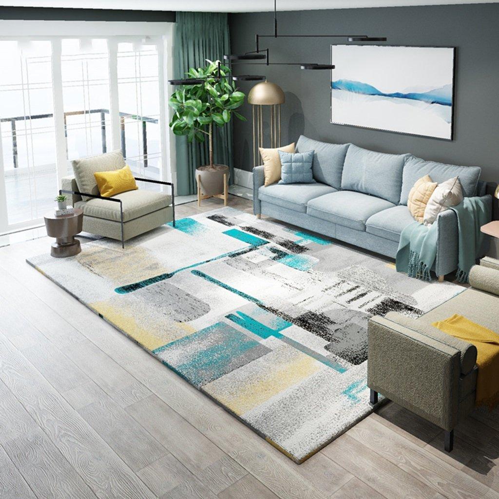 SESO UK Tappeto geometrico in stile nordico moderno astratto Tappeto antiscivolo per soggiorno (dimensioni : 120X160cm)