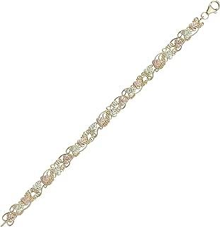 product image for Black Hills Gold 10k Bracelet with 12k Rose and Green Leaves