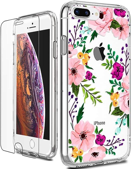 Luhouri Coque de protection rigide pour iPhone 8 Plus/7 Plus Transparent